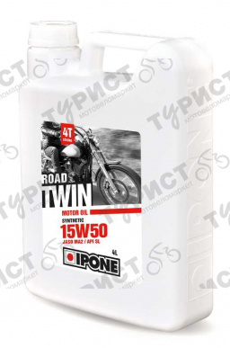 МАСЛО IPONE ROAD TWIN 4T 15W50 4Л СИНТЕТИКА