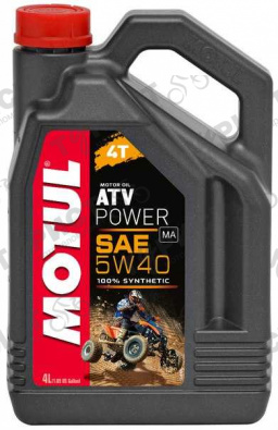 Масло Motul Atv Power 4Т 5W40 4Л Синт